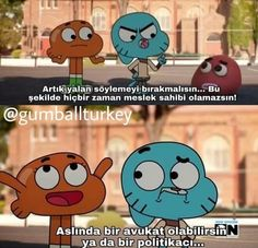 Gumball and Darwin Komik Sahneler Darwin Gumball, Funny Quotes, Funny Memes, World Of Gumball, How I Met Your Mother, Aesthetic Drawing, Just Smile, Funny Cartoons, Cartoon Network