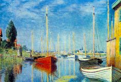 Claude Monet, Pleasure Boats at Argenteuil | Visit us for inexpensive art-prints & posters of Claude Monet