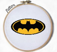 Batman cross stitch pattern by JuliefooDesigns