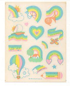 Vintage 1982 Hallmark Sticker, RAINBOW SAYINGS, 1 Sheet, Scrapbooking | Crafts, Scrapbooking & Paper Crafts, Scrapbooking | eBay!