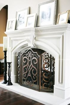 Beautiful white mantel
