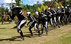 Skeleton men on Mount Hagen, Papua New Guinea.  Photo by Per Lidvall  www.AspectusForma.com