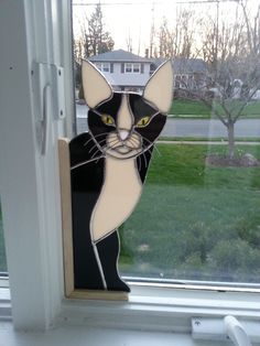 STAIN GLASS CAT