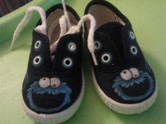 Zapatillas bebe inspiradas en el monstruo de las galletas
