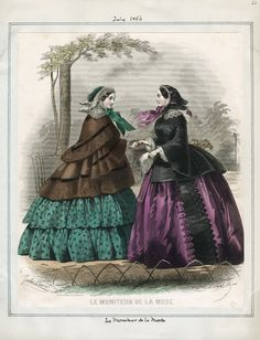 Moniteur de la Mode, July 1856. LAPL Visual Collections.