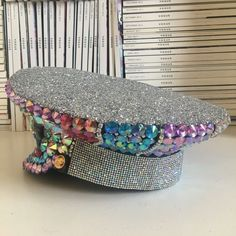 c81d6429c1b78 Items similar to Unicorn Wings Rainbow Captain Hat- Crystallised Russian  Military Hat for Festivals