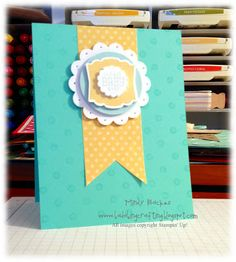 Stampin' Up! Baby Card by Bada-Bing! Paper-Crafting!