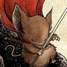 Saxom, from Mouse Guard Comics