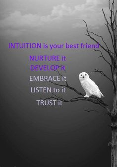 Trust that quiet voice of intuition. Even that which is in you is not there by chance.