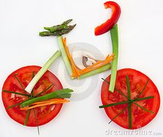 © Tarragona | Dreamstime.com - Symbolical bicycle made of vegetables as symbol and sign for vitality and helathy lifestyle