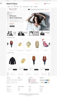 OPC060127 Responsive OpenCart Apparel Store Template