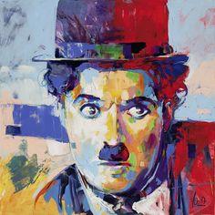 Charlie Chaplin II, 190x190cm/74,8x74,8 inch, acrylic on canvas
