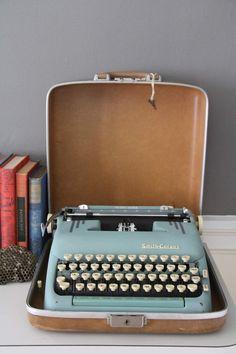 Smith Corona Vintage Typewriter- I've always wanted a typewriter...