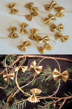 ▷ 1001 + Christmas decorations ideas to make at home Rustic Christmas Crafts, Rose Gold Christmas Decorations, Diy Christmas Gifts For Kids, Diy Christmas Tree, Xmas Crafts, Xmas Decorations, Decoracion Navidad Diy, Pasta Crafts, Idees Cate