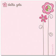 Delta Zeta Sorority Post-its $3.95