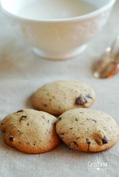 galletas de espelta y chocolate Cooking Cookies, Fast Metabolism Diet, Chocolate, Cookie Recipes, Biscuits, Deserts, Clean Eating, Brunch, Treats