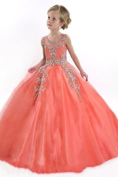 free shipping, $82.42/piece:buy wholesale  2016 new coral flower girls dresses for weddings tulle illusion crystal beads party cheap princess children kids party birthday pageant gown floor-length,reference images,girl on haiyan4419's Store from DHgate.com, get worldwide delivery and buyer protection service.