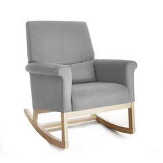 Olli Ella Ro-Ki Rocker Nursing Chair - Dove Grey with Natural