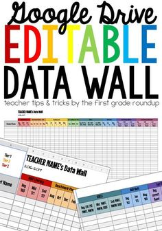 Need a way to organize all of that data? Do you have data records crawling out your ears? :) This data wall is perfect for organizing all of your data in one spot. No more flipping through a gazillion documents to find that one piece of data on a student Google Classroom, School Classroom, Classroom Data Wall, Classroom Ideas, Kindergarten Data Wall, Future Classroom, Classroom Labels, Primary Classroom, Classroom Solutions