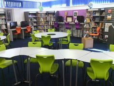 school library shelving | school libraries reopening in some schools and what a beautiful funky ...