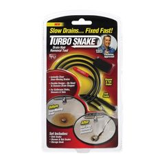 Turbo Snake® Drain Snake (TSNAKE-CD6) - Plungers & Drain Openers - Ace…