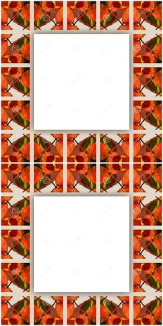 made of square shapes, filled with White space in the middle. It`s useful for cards, envelopes, wallpaper. by Tilena on dreamstime Text Frame, Orange Leaf, White Space, Fall Season, Envelopes, Colorful Backgrounds, Middle, Leaves, Concept