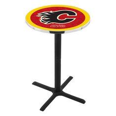 Calgary Flames X-Base Bar Table