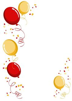 Balloon border PNG and Clipart Happy Birthday Greetings, Birthday Wishes, Birthday Cards, Happy Birthday Wallpaper, New Year Illustration, Birthday Clipart, Birthday Frames, Birthday Background, Birthday Pictures