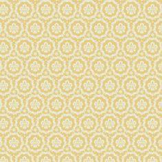 Tilda Stoff Baumwolle Kreativstoff Ornamente senfgelb