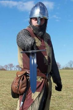 What a well armored Viking could have had, although this soldier's sword is a much later period.