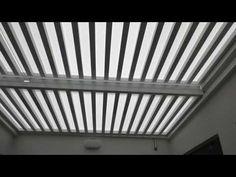 Techo de Policarbonato Corredizo Sol y Sombra en estructura de Aluminio Blanco de Corp.Roman - YouTube