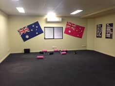 Mobility room powered by the Aussie flag.