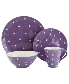 Maxwell & Williams Sprinkle Purple 4-Piece Place Setting - Casual Dinnerware - Dining & Entertaining - Macy's