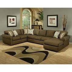 Keaton Chenille Eco Friendly Sectional Sofa | Overstock.com