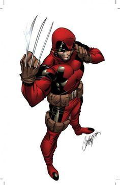 Look! It's Dead- I mean Wolverine! XD  It's.... um.. DeadWolverine?.... hmm...  Either way, I didn't draw this :(