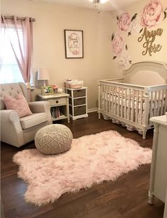 50 Inspiring Nursery Ideas for Your Baby Girl - Cute Designs You'll Love. Cute baby girl nursery room ideas Get inspired to prepare and create the perfect room for your baby girl. These baby girl nursery ideas can help you create a cute girly room style. Baby Nursery Decor, Baby Bedroom, Nursery Design, Baby Decor, Girls Bedroom, Baby Rooms, Baby Bedding, Baby Girl Bedroom Ideas, Baby Room Ideas For Girls