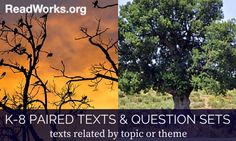 New Paired Texts & Question Sets | ReadWorks.org | The Solution to Reading Comprehension