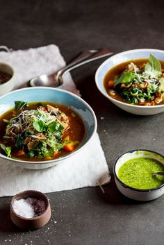 Low Carb Minestrone with pesto #recipe #dinner