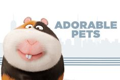 """Norman the Guinea Pig from tje movie """"The secret life of pets"""""""