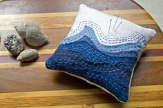 Little waves pin cushion by fog and swell ♥