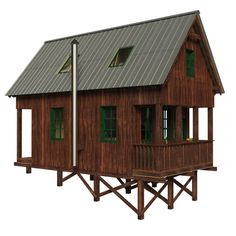 Tiny house plans with construction process complete set of plans construction progress + comments complete material list + tool list DIY building cost$9,450 FREE sample plans of one of our design