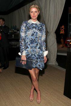 Nicky Hilton wearing Valentino Fall 2013 Blue Dress