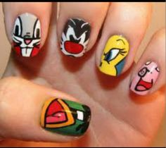 Looney tunes nail art