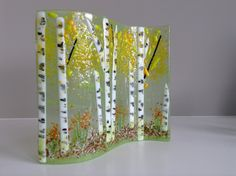 E. Badiuk Fused Glass - Summer Aspen Wave 2