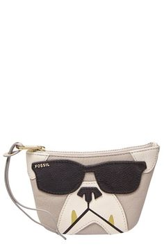 Fossil 'Bulldog' Leather Coin Purse available at #Nordstrom