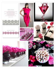 Pink & Black & White Wedding Style