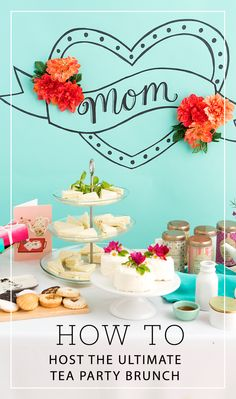 Plan the ultimate tea party brunch for mom this Mother's Day with these must-haves from Hallmark Gold Crown!