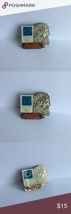 Vintage Athens Coca-Cola Pin 2004 Athens, Greece Olympics Coca-Cola commemorative enamel pin. Exclusive vintage! Jewelry