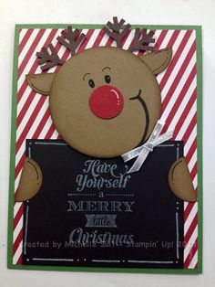 """A fun, new """"Suitably Punched Critter named """"Roxie"""".  Just in time for your holiday projects!  Cute reindeer!"""