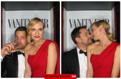 Joshua Jackson and Diane Kruger at the 2015 Vanity Fair Oscar Party.